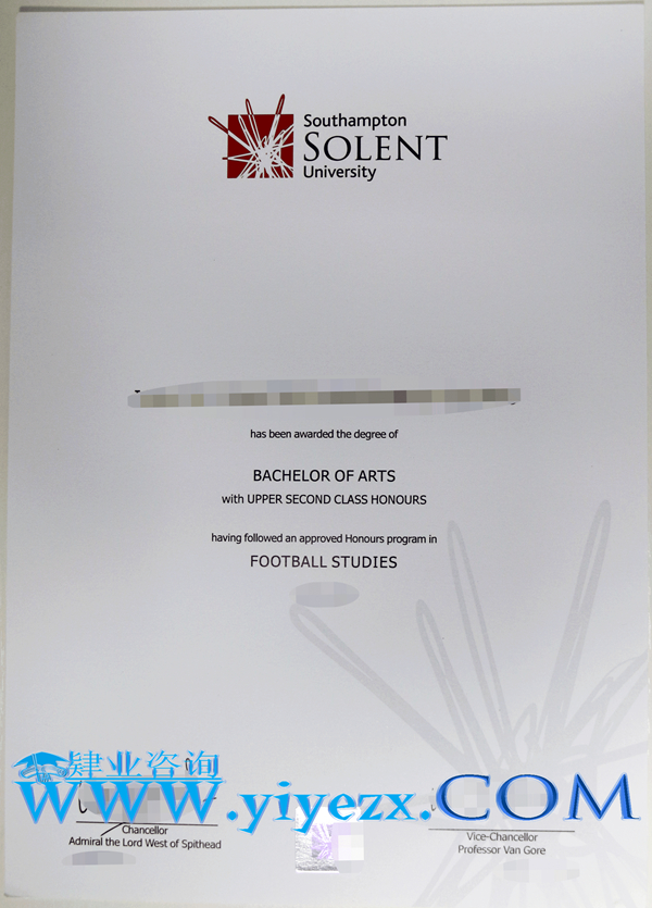 办理Solent毕业证,Solent毕业证购买