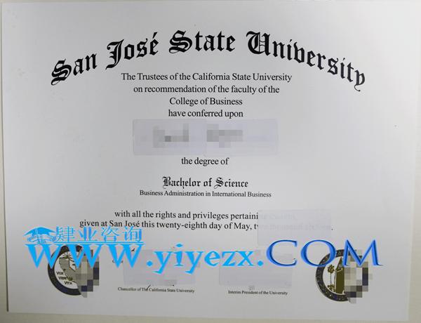 SJSU文凭购买,SJSU毕业证制作