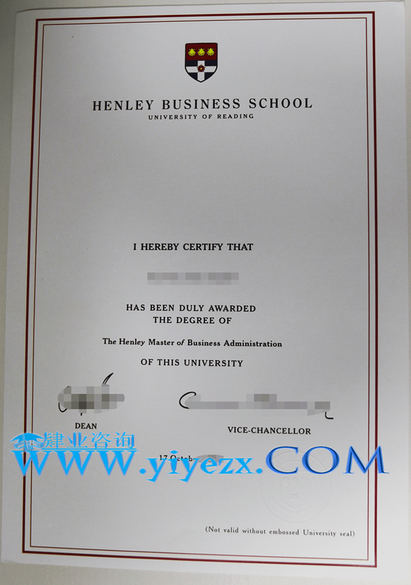 Henley文凭购买,Henley毕业证办理