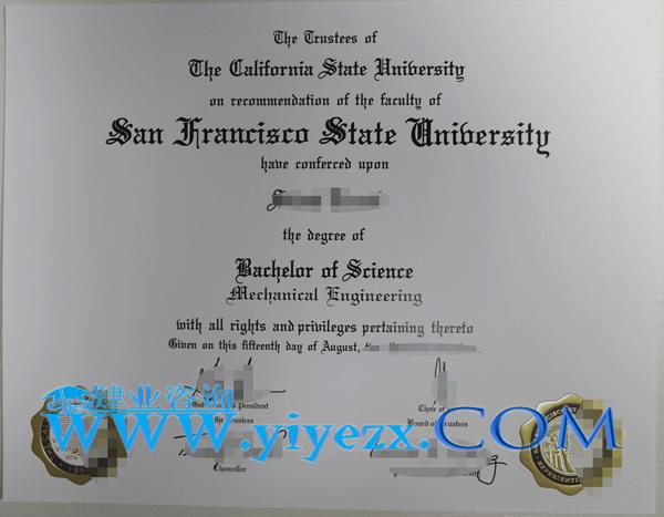 SFSU毕业证成绩单办理