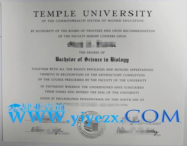 购买Temple毕业证