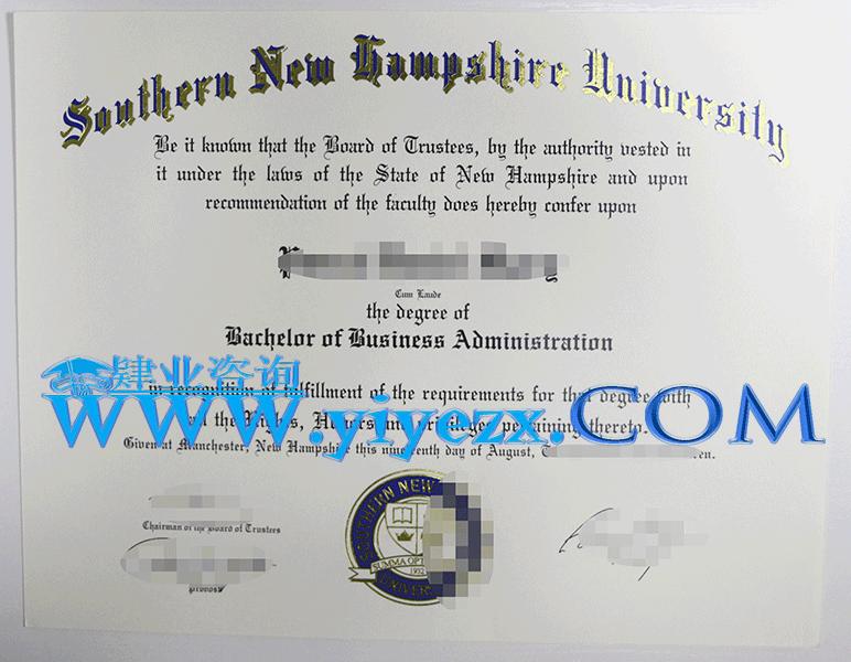 美国新罕布什尔大学毕业证办理