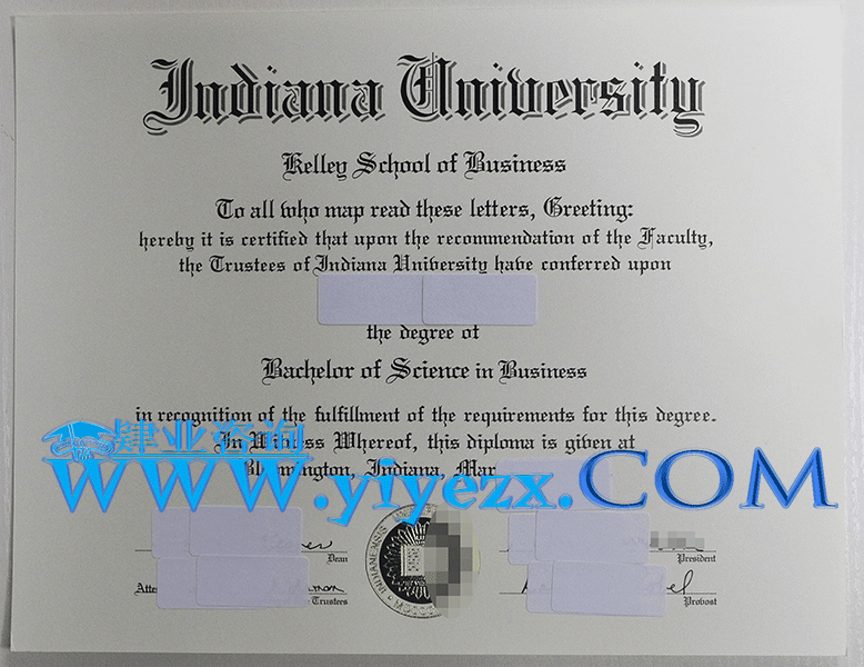 美国印第安纳大学毕业证办理