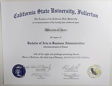 办理美国加州州立大学CSUF富勒尔顿分校毕业证,购买CSUF文凭学位证,真实学籍学历办理可认证