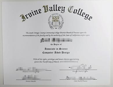 办理美国尔湾谷社区大学IVC毕业证,购买IVC文凭学位证,真实学籍学历办理