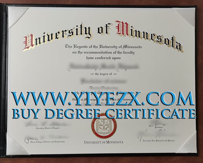 University of Minnesota diploma