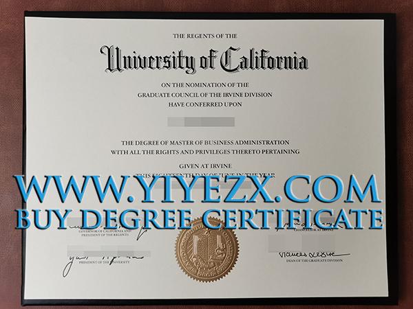UC Irvine diploma , 加州大学欧文分校文凭