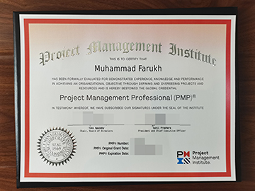 Project Management Professional Fake certificate for 2021, PMP 证书出售