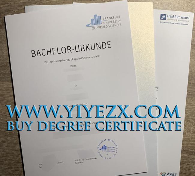 Frankfurt University of Applied Sciences certificate