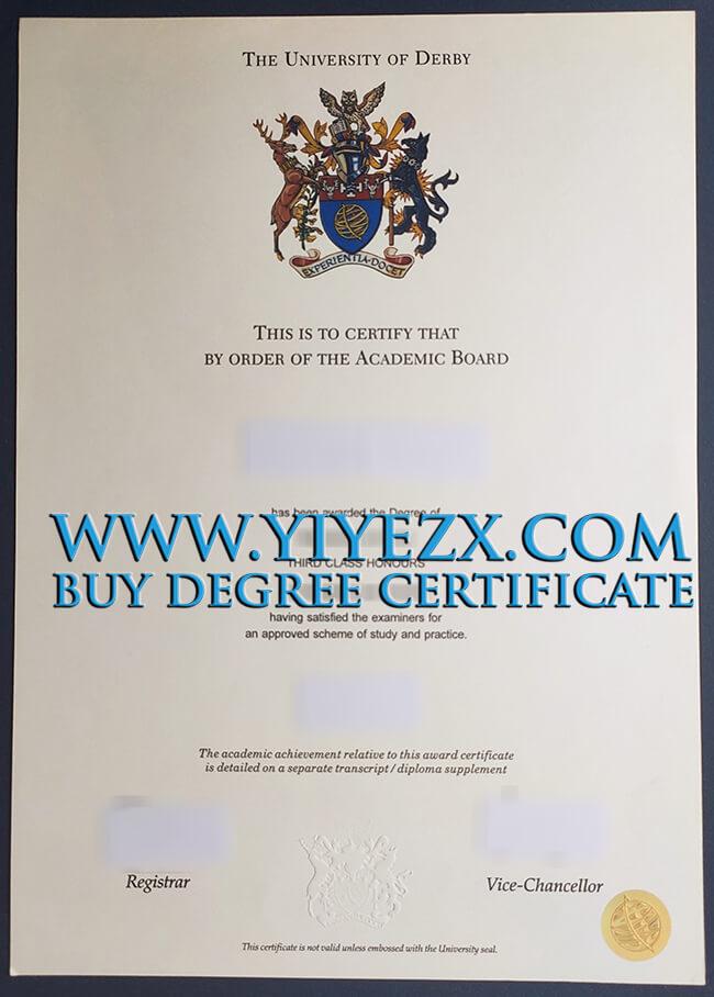 University of Derby degree