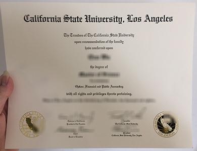 Where can I buy a fake California State University, Los Angeles degree in US? 如何快速获得加利福尼亚州立大学洛杉矶分校Cal State LA学位?