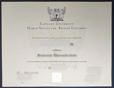 How to buy a fake Capilano University certificate? 快速获得卡皮拉诺大学CAPU证书