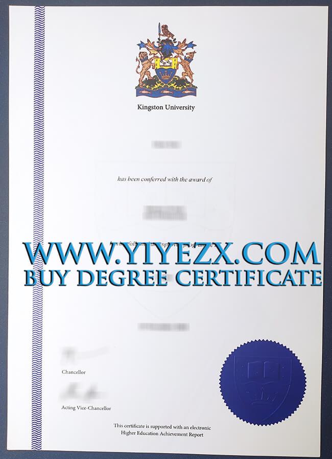 Kingston University certificate 金斯顿大学KUL证书