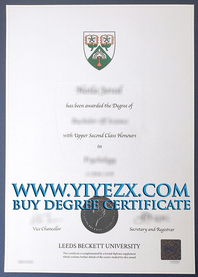 Leeds Beckett University degree