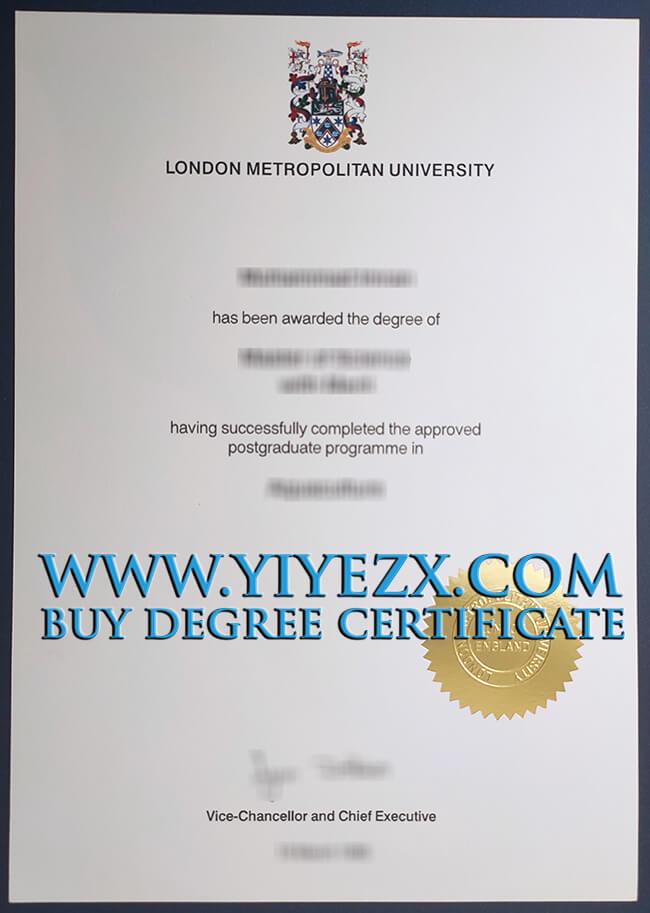 London Metropolitan University degree