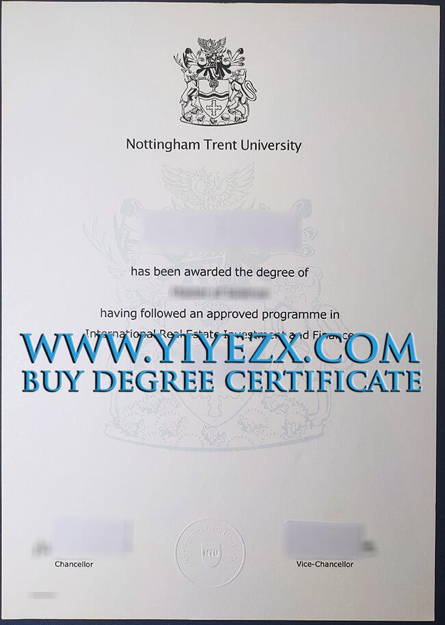 Nottingham Trent University degree