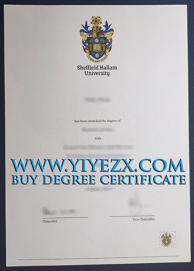 Sheffield Hallam University degree 谢菲尔德哈勒姆大学学位