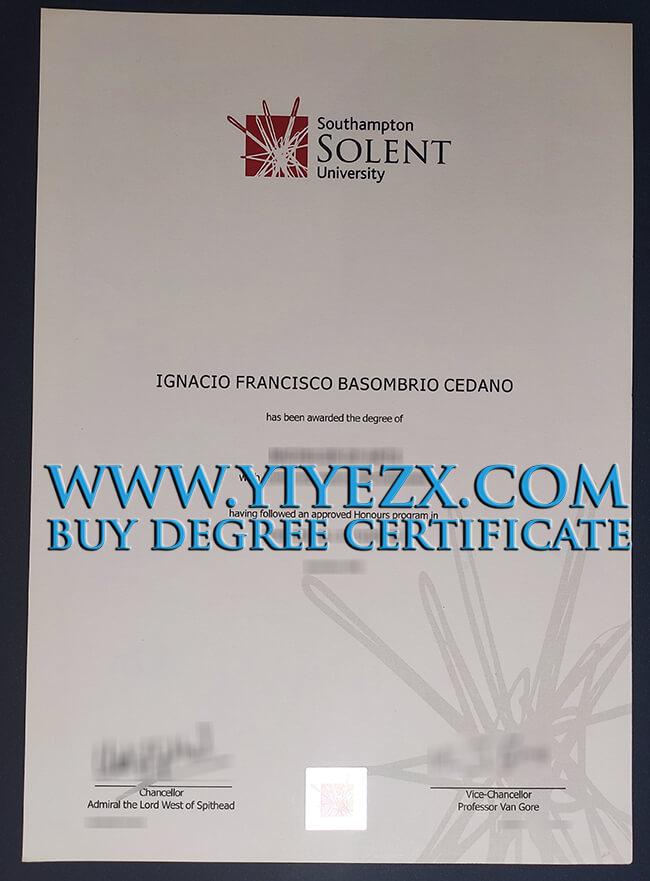 Solent University degree