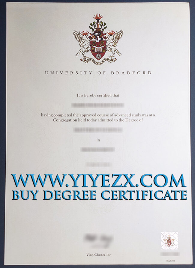 University of Bradford certificate