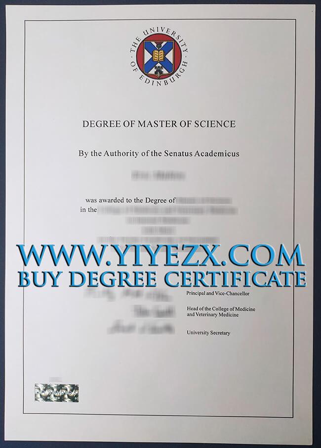 University of Edinburgh degree 爱丁堡大学学位