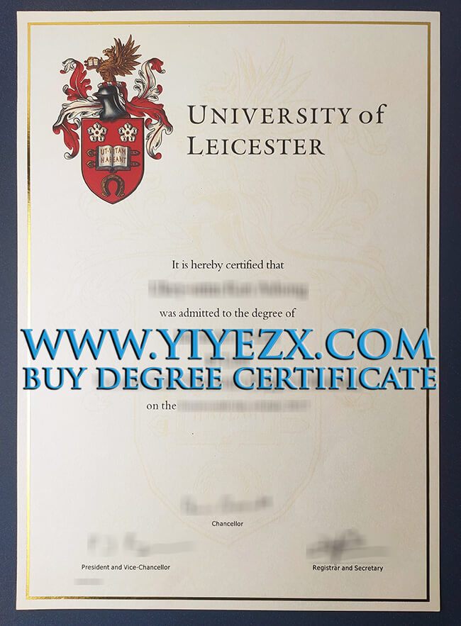University of Leicester certificate
