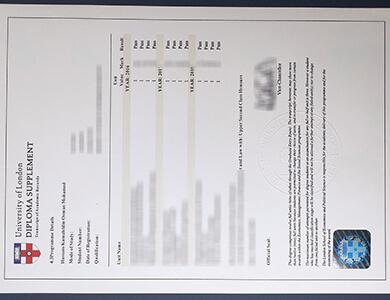 How to obtain a fake University of London transcript? 如何获得伦敦大学成绩单?