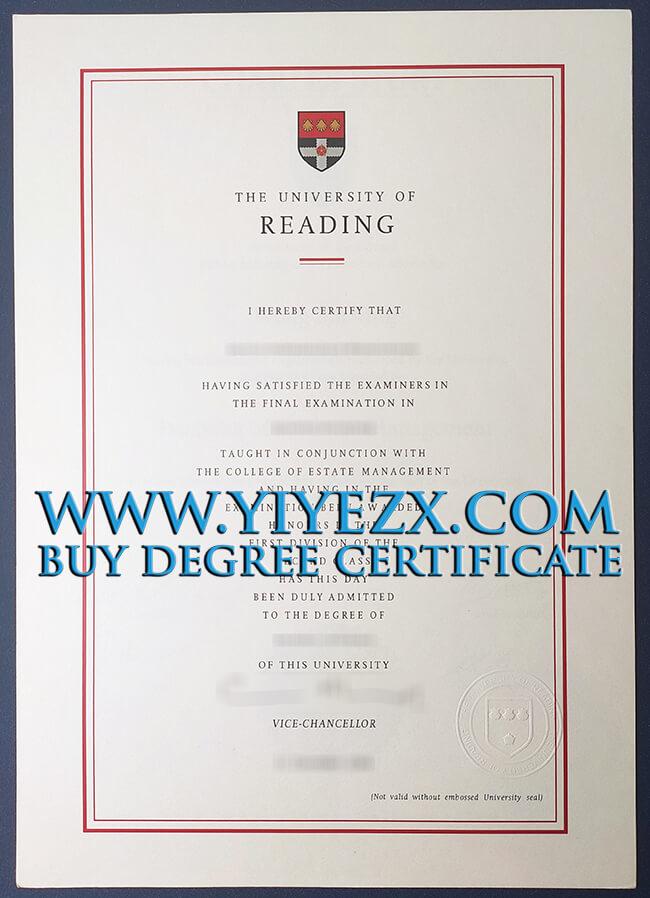 University of Reading degree 雷丁大学学位证书