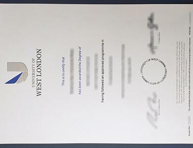How to get a fake University of West London certificate in UK? 如何获得西伦敦大学UWL证书?