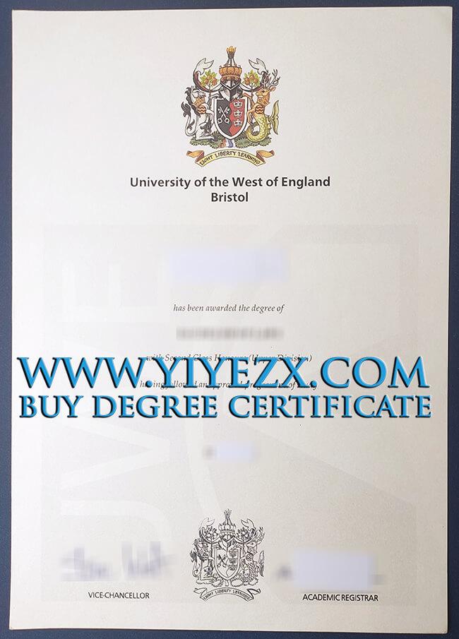 University of the West of England, Bristol degree 西英格兰大学,布里斯托尔分校学位