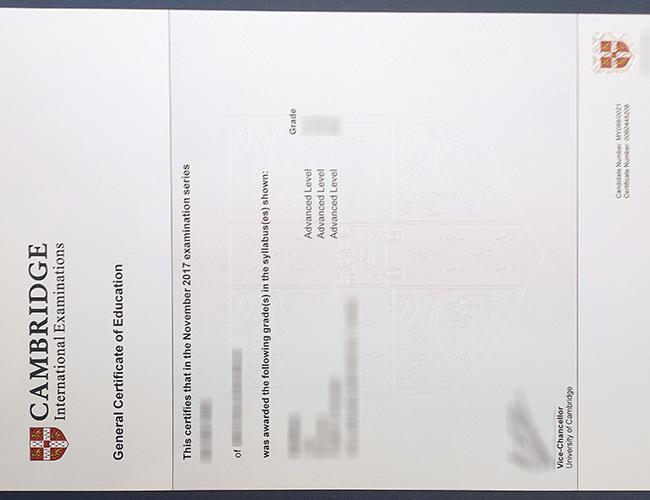 Buy fake Cambridge Assessment International Education certificate 剑桥评估国际教育证书办理