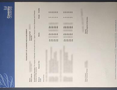 Buy fake Coventry University transcript online. 在线办理考文垂大学成绩单