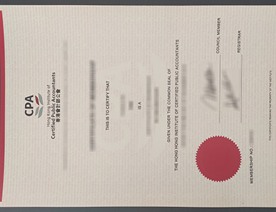 Get a fake Hong Kong Institute of Certified Public Accountants certificate online 香港会计师公会HKICPA证书办理