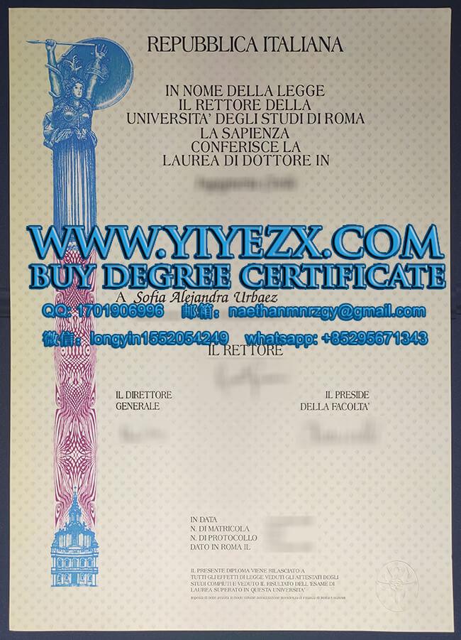 Sapienza University of Rome degree 罗马萨皮恩扎大学学位证书