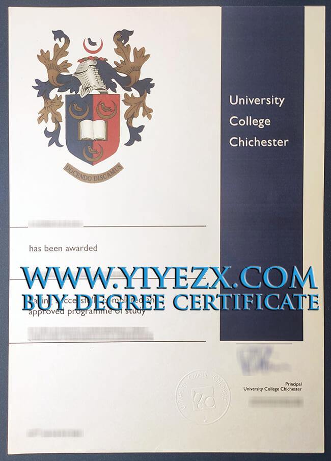 University of Chichester degree 奇切斯特大学学士学位证书