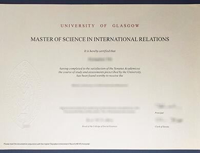 Buy fake University of Glasgow certificate 格拉斯哥大学GLAS证书办理