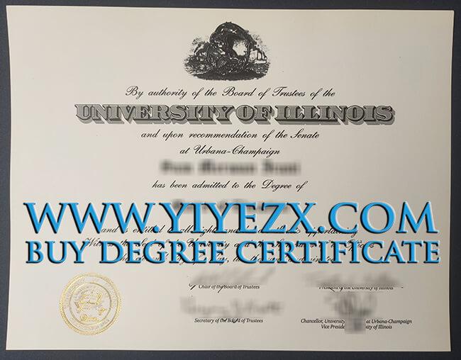 University of Illinois Urbana-Champaign degree 伊利诺伊大学香槟分校UIUC学位证书
