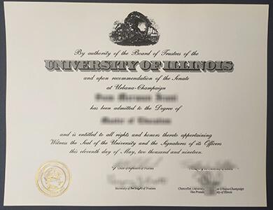 How can I buy a fake University of Illinois Urbana-Champaign degree in US? 伊利诺伊大学香槟分校UIUC学位证书快速办理