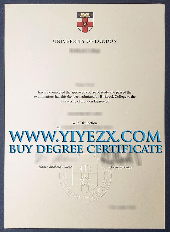 University of London degree 伦敦大学学位证书2016年版