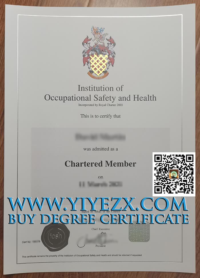 IOSH certificate