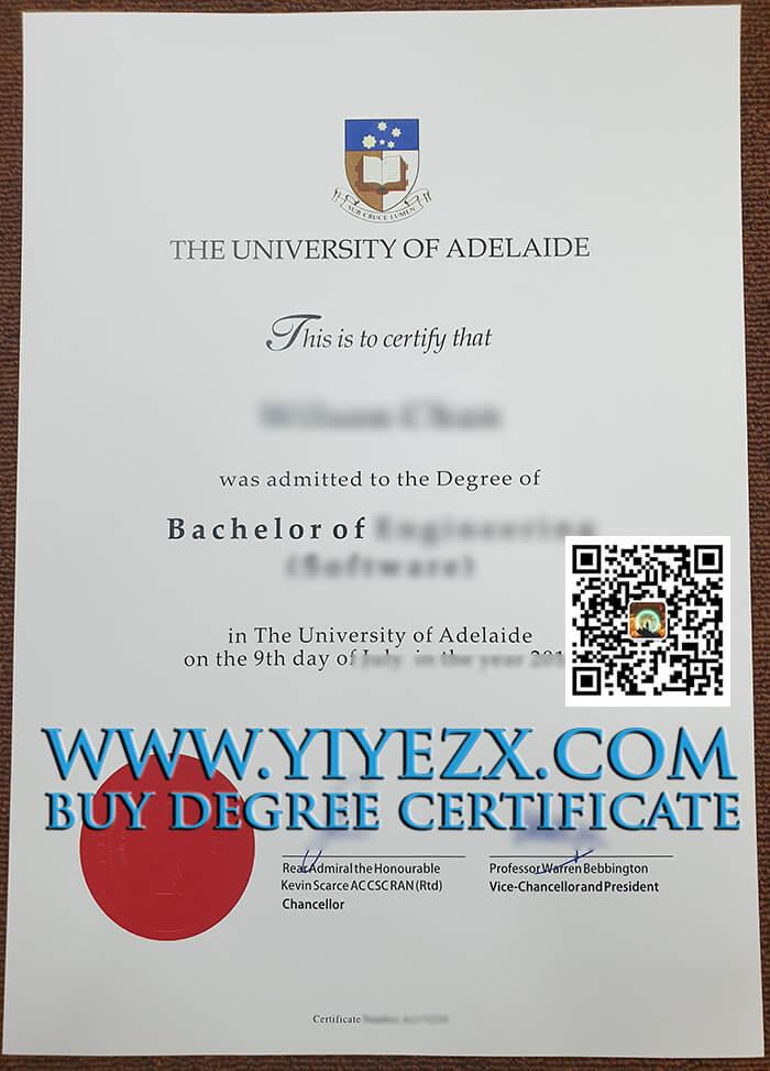 University of Adelaide Bachelor degree