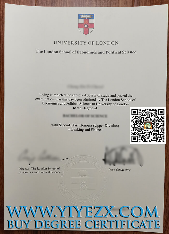 London School of Economics and Political Science degree