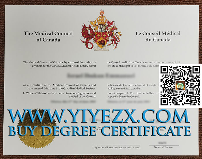 Licentiate of the Medical Council of Canada
