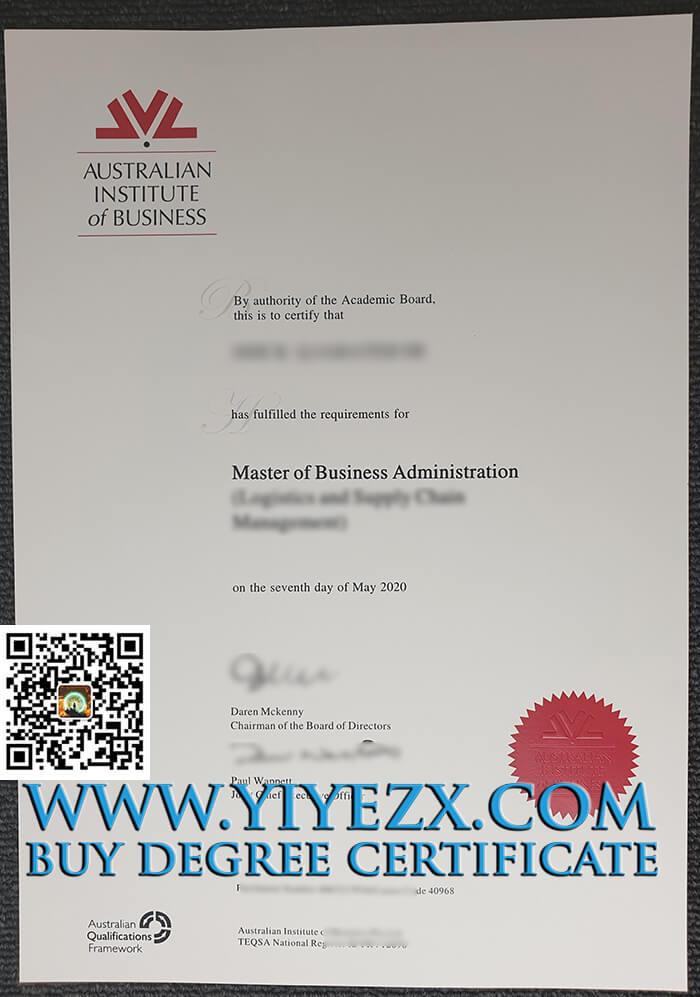 Australian Institute of Business diploma