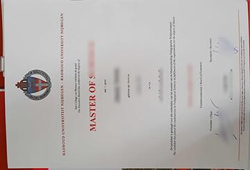 Purchase a fake Radboud University Nijmegen Master degree