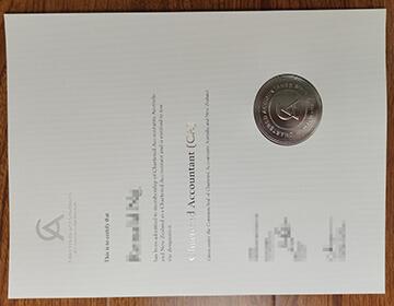 Order a fake CA ANZ certificate,  澳大利亚和新西兰特许会计师证书,