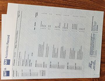 False QUT transcript sample, Buy fake Queensland University of Technology diploma.