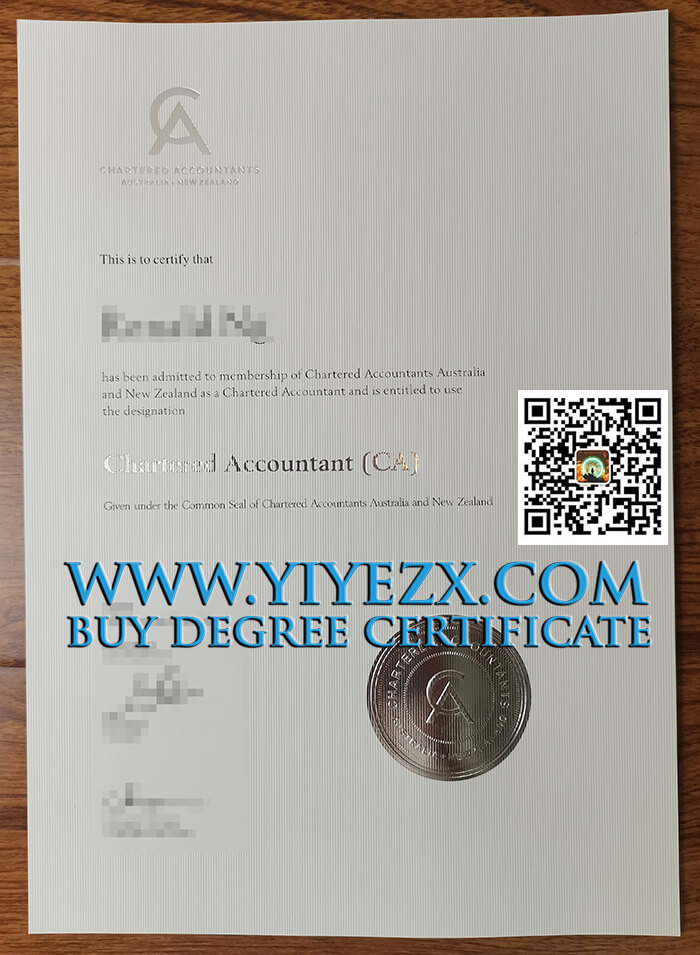 CA ANZ certificate