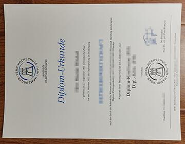 Hamburger Fern-Hochschule Fake diploma Urkunde sample, 办理德国文凭