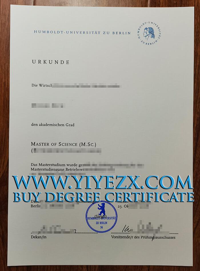 Humboldt-Universität zu Berlin diploma