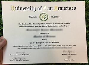 旧金山大学 (USF) 文凭订购, Buy fake USF diploma online
